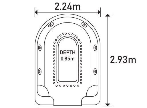 The Horseshoe Spa Sizing Diagram